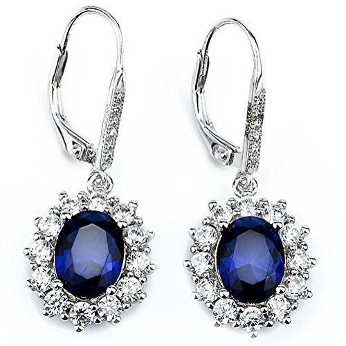 Silver-Mountain-Sterling-Silver-Diamond-Accent-BlueWhite-Zircon-Oval-Leverback-Dangle-Earrings