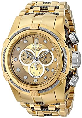 Invicta Men's 16004BWB Jason Taylor Analog Display Swiss Quartz Gold Watch