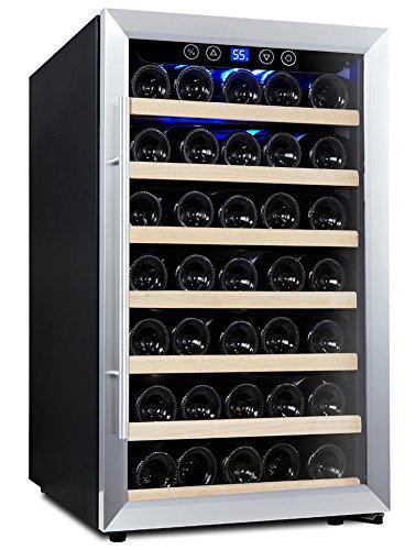 kalamera 52 bottle freestanding stainless steel door. Black Bedroom Furniture Sets. Home Design Ideas