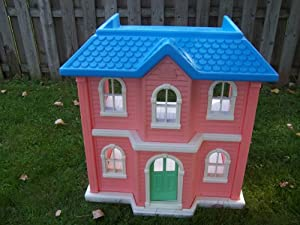 Vintage Little Tikes My Size Dollhouse Furnished