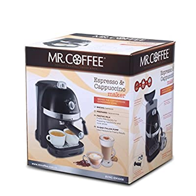 Mr. Coffee BVMC-EM1008 850-Watt Espresso and Cappuccino Maker (Black/Silver)