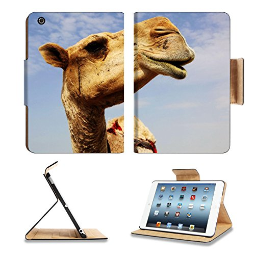 Apple iPad Mini 1st Generation Flip Case A close up view of the head of a dromedary camel against a slightly cloudy sky 6025115 by Liili Customized Premium Deluxe Pu Leather generation Accessories HD Wifi 16gb 32gb Luxury Protector Case