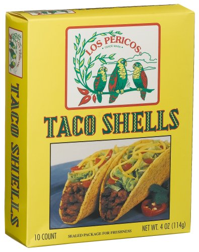 Los Perico Taco Shells, 5-Ounce Boxes (Pack of 15)