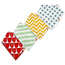 Adovely Baby Bandana Bibs Drool Girl Boy Gift Set - Trendy