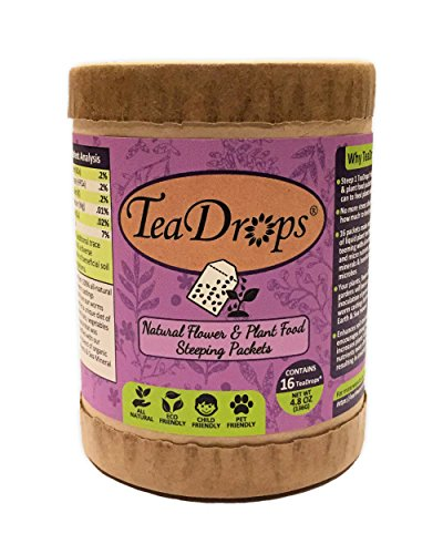 TeaDrops Organic Plant Food & Flower Fertilizer Biological Liquid Tea Packets (70+ Minerals & Nutrients, High % Humic Acids & Beneficial Natural Plant Growth Microbes) - Organic Gardening (Lukewarm Water compare prices)