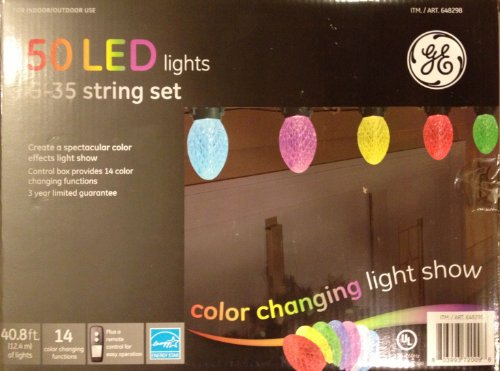 GE Color Effects 50 LED Light G35 String Set - Color Changing - Save prices Power Tools online 01