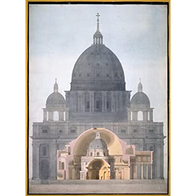 Greetings Card: 'Comparative Drawing of Architectural Domes from Iconic Buildings' by Tyrell
