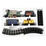 AdraxX Green Steam Engine Train Toy With Tracks [Toy]