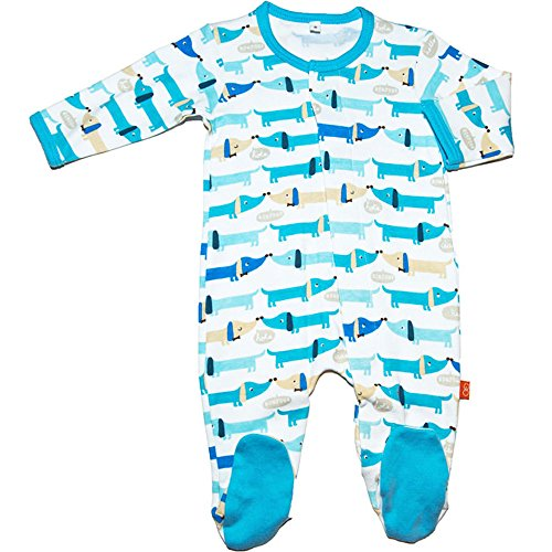 Magnificent Baby Footie Magnet Close Dog Boys Footed Sleeper Pajamas Blue 9 Mth