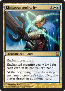 Magic: the Gathering - Righteous Authority (189) - Return to Ravnica