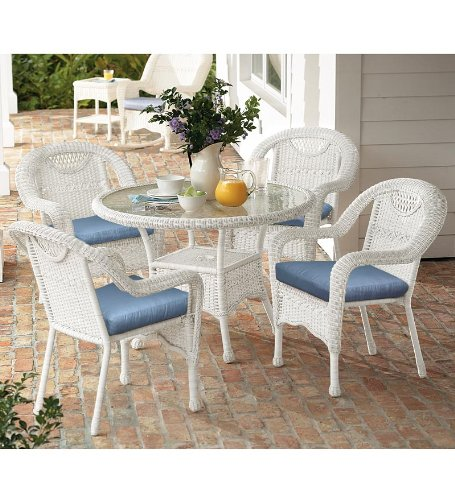 Cheap Price Prospect Hill Handwoven Resin Wicker Outdoor Round Dining Ta