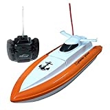 Babrit F1 High Speed RC Boat Remote Control Electric Boat-Orange color