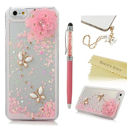 iPhone 6 Plus,6s Plus Custodia Trasparente Cristallo Bling Strass Cover DIY 3D - Mavis's Diary Custodia Duro del PC di Plastica Estremamente sottile - Progettazione Amore