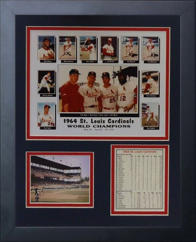 "1964 St. Louis Cardinals 11"" x 14"" Framed Photo Collage by Legends Never Die, Inc. - Collage at Amazon.com"