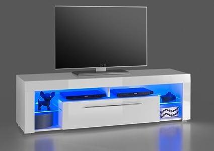 Lowboard 16829 TV-Möbel Fernsehmöbel TV-Untergestell Weiß Hochglanz