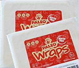 Paleo Wraps, Gluten Free Coconut Wraps, 7-Count (Pack of 2)