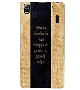 PrintDhaba Quote D-3273 Back Case Cover for LENOVO K3 NOTE (Multi-Coloured)