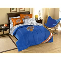New York Knicks 7 Pc FULL Size Bed in a Bag (Comforter, 1 Flat Sheet, 1 Fitted Sheet,... by Northwest