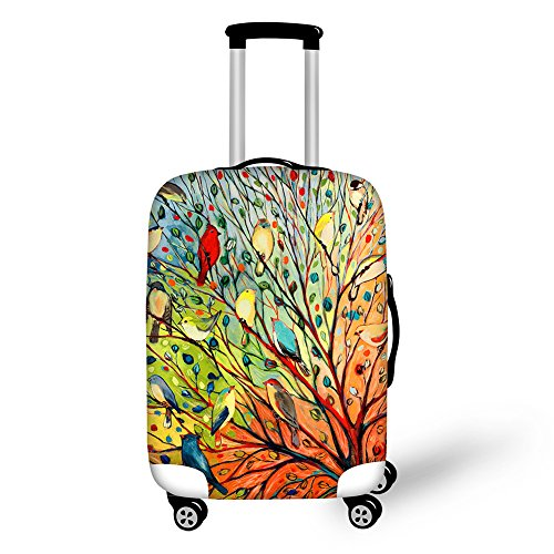 Anyshock [Landscape Series]2015 High Quality Spandex Elastic Design Dust-proof and Waterproof Travel Luggage/Suitcase Protective Cover for Woman and Men,Travelers (Bird, S(18