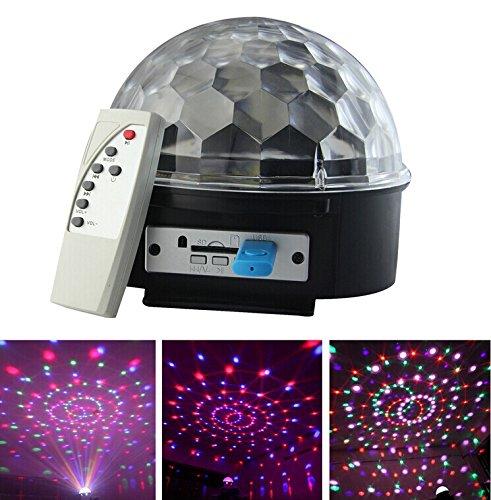 6W Rgb Led Mp3 Dj Club Pub Disco Party Crystal Magic Ball Stage Effect Light