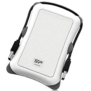 Silicon Power 1TB Rugged Armor A30 Shockproof Standard 2.5-Inch USB 3.0 Military Grade Portable External Hard Drive,White (SP010TBPHDA30S3W)