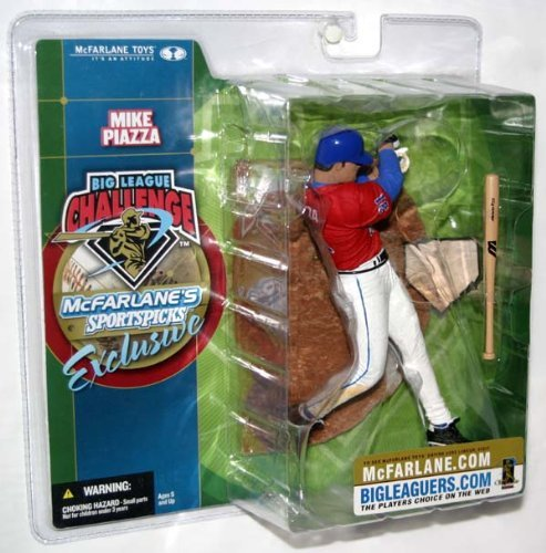 Mike Piazza Big League Challenge McFarlane Sportspicks Exclusive Red Jersey Action Figure - 1