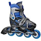 Roller Derby Boy's Tracer Adjustable Inline Skate, Medium