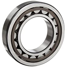 NSK 200 Series Cylindrical Roller Bearing, Standard Capacity, Removable Outer Ring, Straight, Machined Brass Cage, Normal Clearance, Metric