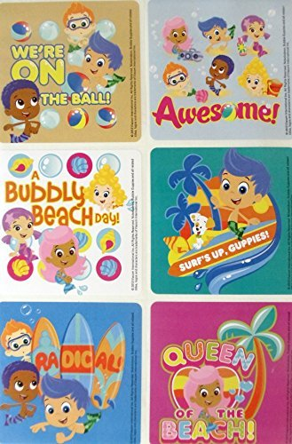 "BUBBLE GUPPIES- Bubble Guppies Birthday Party Favor Sticker Set Consisting of 45 Stickers Featuring 6 Different Designs Measuring 2.5"" Per Sticker - 1"