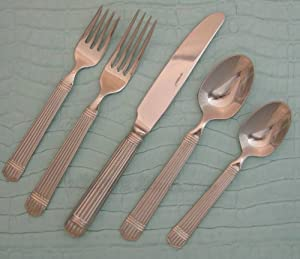Amazon.com: Retroneu Esprit 64 Piece service for 12 Flatware Set ...