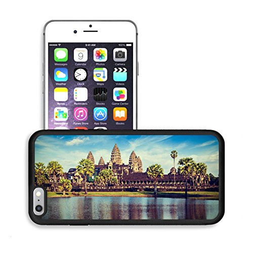 Luxlady Premium Apple iPhone 6 Plus iPhone 6S Plus Aluminum Backplate Bumper Snap Case IMAGE ID 31068520 Vintage retro effect filtered hipster style travel image of Cambodia landmark Angkor Wat with r (Angkor Wat Model compare prices)