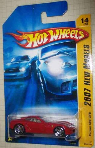 2007 New Models -#14 Ferrari 599 GTB Red #2007-14 Collectible Collector Car Mattel Hot Wheels 1:64 Scale Collectible Die Cast Car