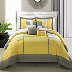Dorchester Yellow 8 Piece Comforter Bed In A Bag Set