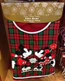 Disney Park Mickey Minnie Mouse Plaid Christmas Holiday Tree Skirt NEW