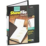 Cardinal by TOPS Products ShowFile Display Book with Custom Cover Pocket , 8.5 x 11 Inch Sheet Size, 24 Sleeves, Black (50232)
