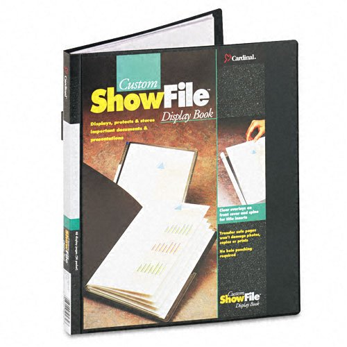 Cardinal By Tops Products Showfile Display Book With Custom Cover Pocket , 8.5 X 11 Inch Sheet Size, 24 Sleeves, Black (50232) front-858134