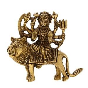 Amazon.com - Durga Hindu Goddess Religious Statue Brass Figurines