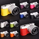 10 Colors! Handmade Genuine Camera Half Leather Case Bag Cover for Samsung NX1000 (please leave seller a note which color you prefer)