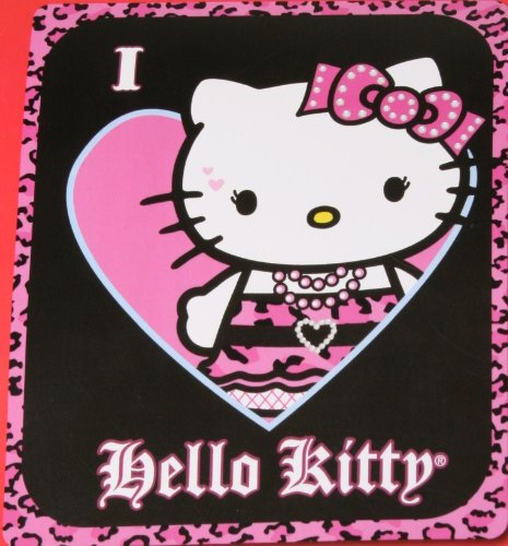 Northwest I Love Hello Kitty Micro Raschel Throw Blanket