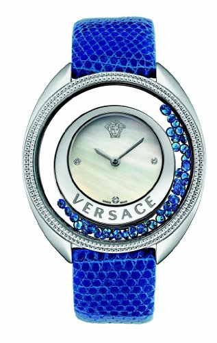 Versace Women's 86Q941MD497 S282 Destiny Precious Mother-of-Pearl Stainless Steel Blue Watch