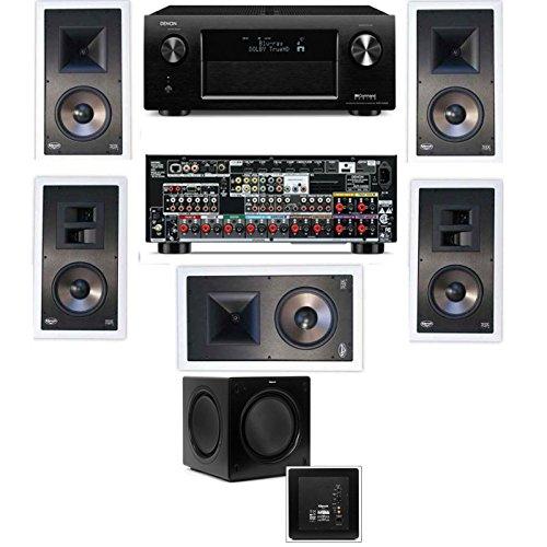 Klipsch Kl-7800-Thx 7.1 In-Wall-Sw-310-Denon Avr-X4000 In-Command 7.2- White