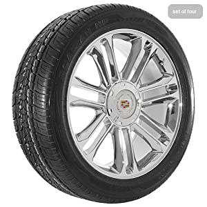 20 Inch Chrome 55 Series Wheels Rims and Tires for Cadillac
