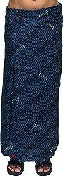 SRS Men's Cotton Lungi (138_2, Blue, 2 mtr)
