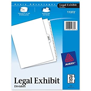 Avery® Preprinted Legal Index Tab Dividers with Black and White Tabs