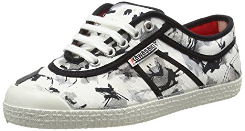 Kawasaki Unisex - Adulto, Scarpa Tecnica, Basic Miriana, Bianco (With Sign), 39