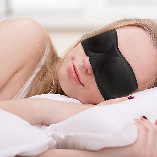 PLEMO立体型睡眠アイマスク 軽量・究極の柔らかシルク質感 超ソフト 通気性 横向き寝 睡眠、旅行に最適 EM-453 (フリーサイズ)