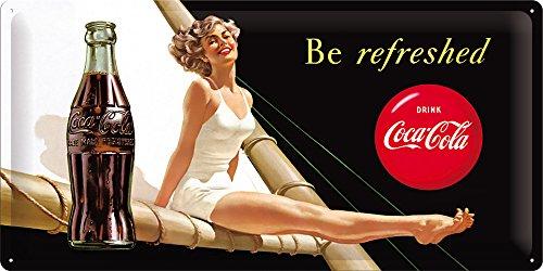 Coca Cola Be Refreshed haute qualité plaque en imprimé, avec empreinte Taille 50x 25cm