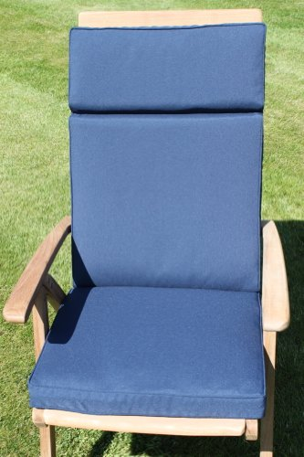 Garden Furniture Cushion- Recliner Cushion for Large Garden Chair Navy Blue