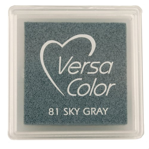 Tsukineko Small-Size VersaColor Ultimate Pigment Inkpad, Sky Gray