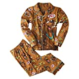 Scooby Doo Boys 2pc Coat Pajamas Snack Attack Brown